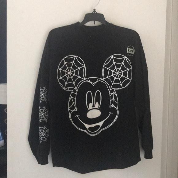 861e095c7a6 Disney Tops - Disney Halloween Spirit Jersey Glow in the Dark XS